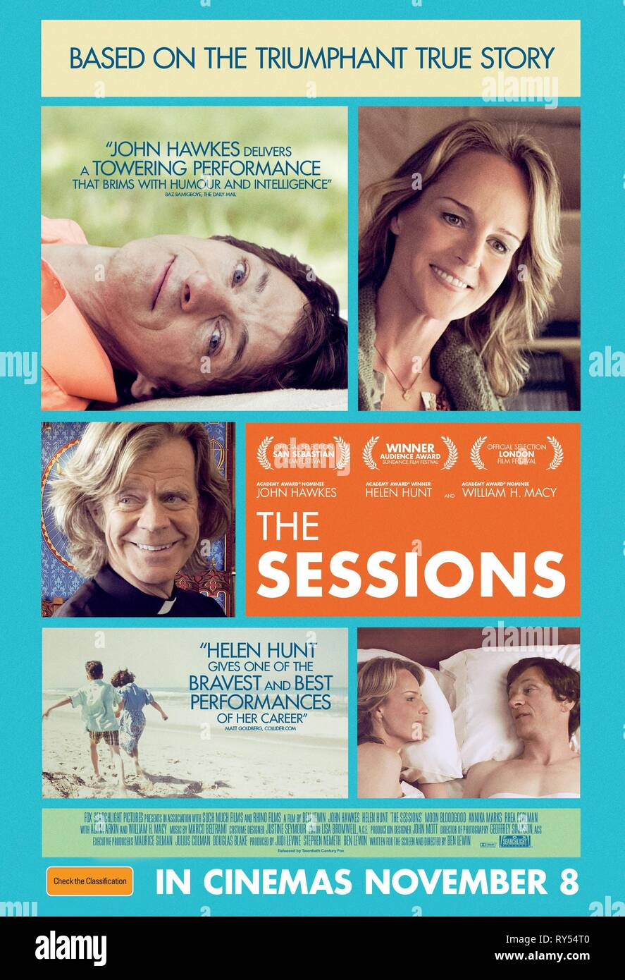 HAWKES,HUNT,POSTER, THE SESSIONS, 2012 - Stock Image