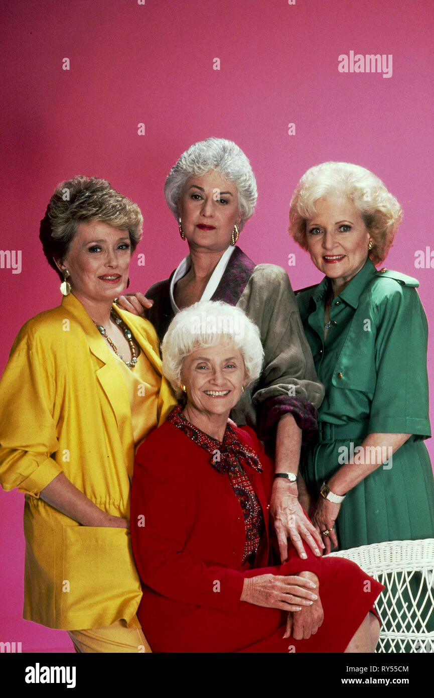 MCCLANAHAN,ARTHUR,GETTY,WHITE, THE GOLDEN GIRLS, 1985 - Stock Image