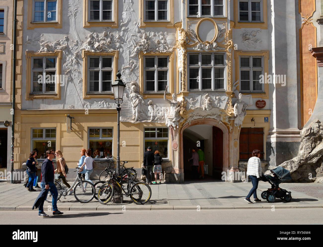 Asamhaus, Sendlinger Strasse, Muenchen, Bayern, Deutschland - Stock Image