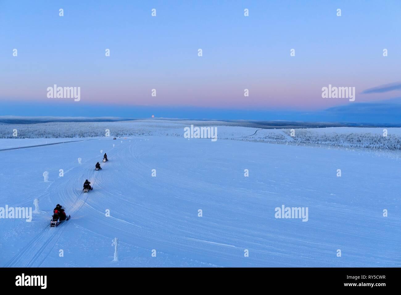 Finland, Lapland province, Inari, Saariselka, Kaunispaa Summit - Stock Image