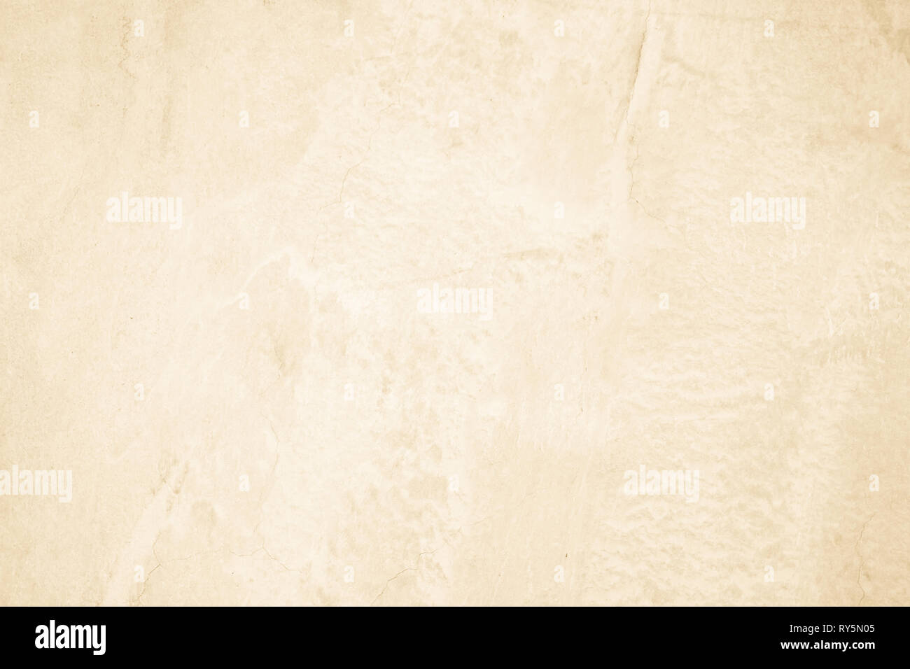 Cream concreted wall for interiors or outdoor exposed surface polished concrete. Cement have sand and stone of tone vintage, natural patterns old anti - Stock Image