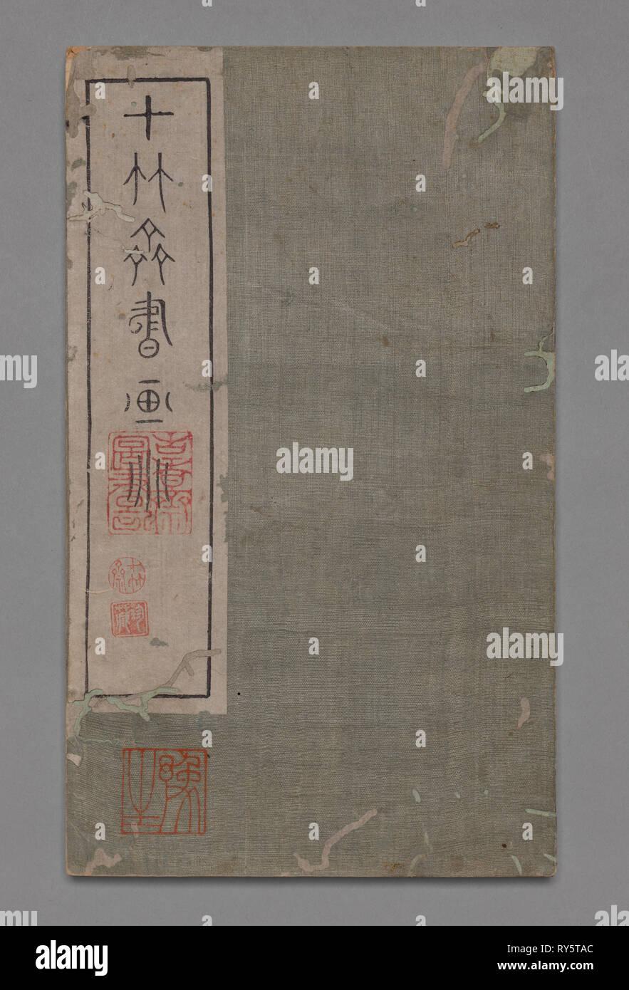 90c9ffe70d976 Ten Bamboo Studio Painting and Calligraphy Handbook (Shizhuzhai shuhua pu)   Round Fans