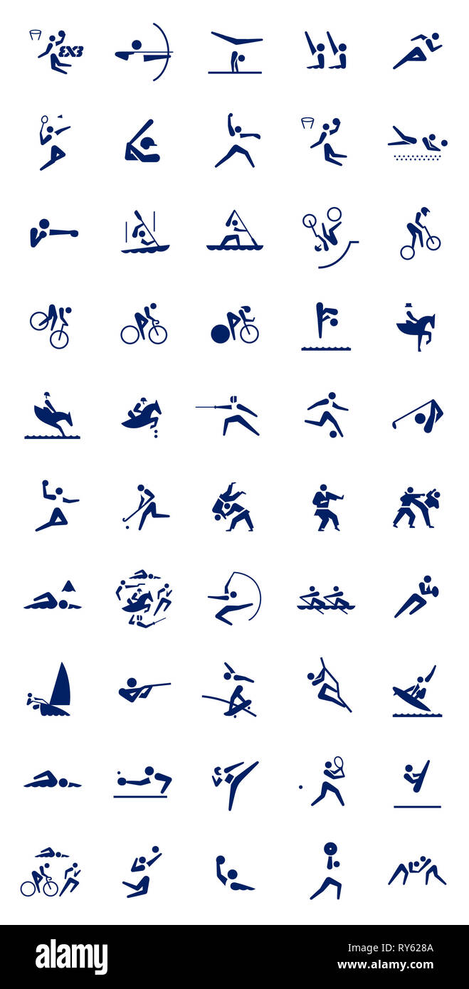Tokyo. 12th Mar, 2019. The image of the sport pictograms (free type) for the Tokyo 2020 Olympic Games is released by the Tokyo 2020 Organizing Committee in Tokyo, Japan, on March 12, 2019. Credit: Xinhua/Alamy Live News - Stock Image
