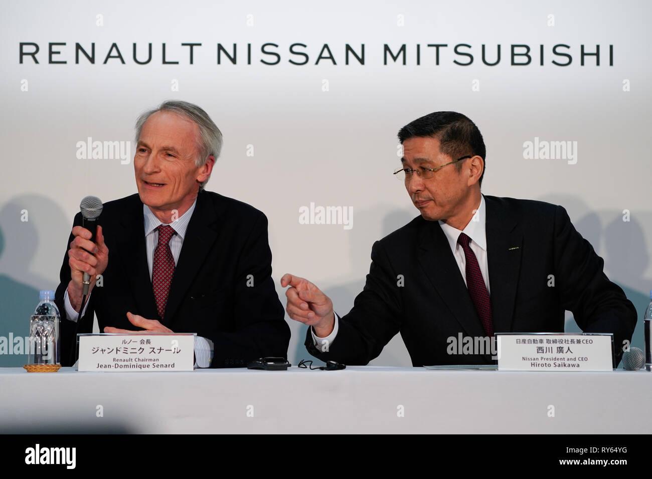 Yokohama, Japan  12th Mar, 2019  Renault ChairmanJean