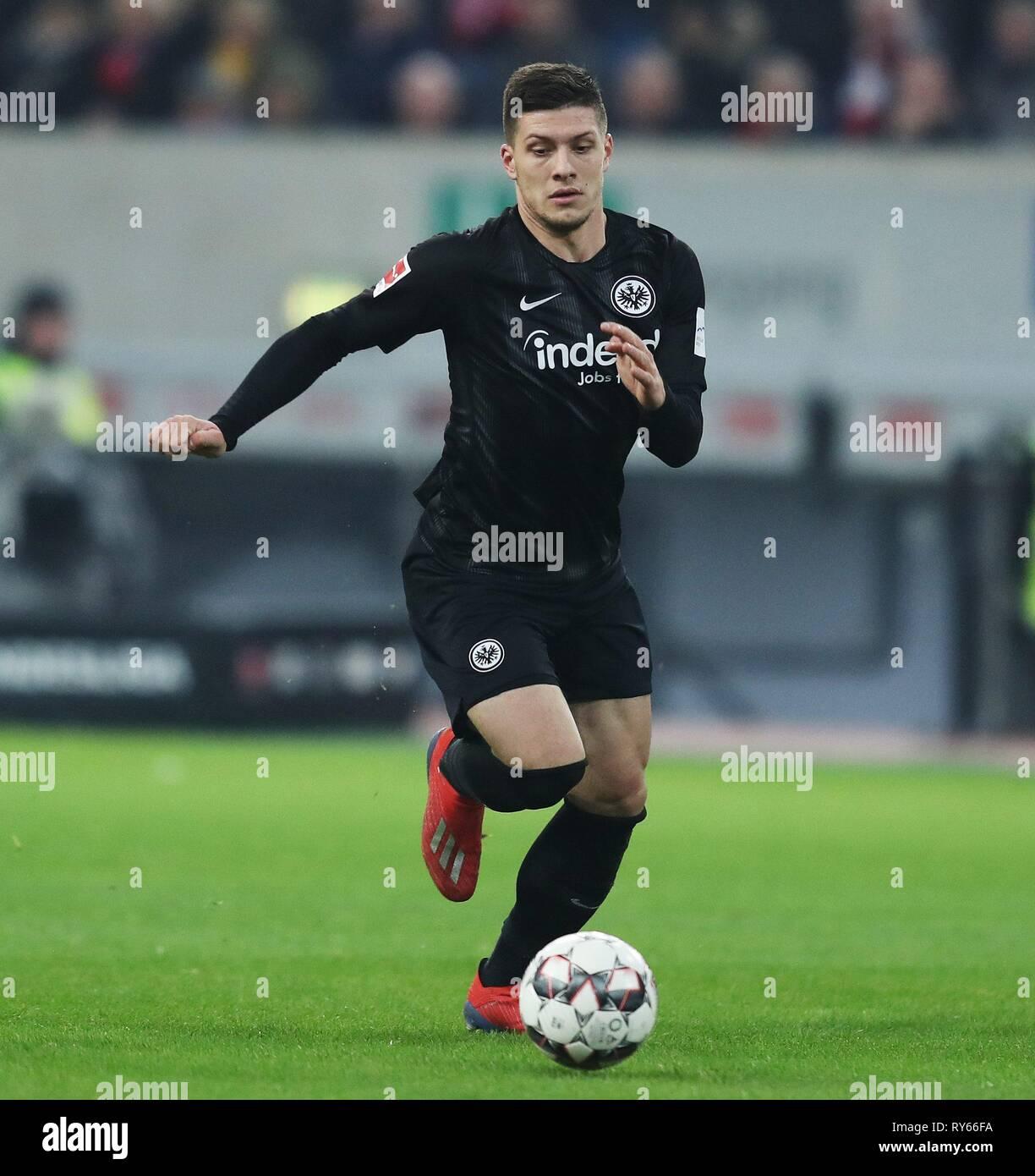 firo: 11.03.2019, Football, 2018/2019, 1.Bundesliga Fortuna Dusseldorf Dusseldorf - Eintracht Frankfurt 0: 3 Luka Jovic, single action,   usage worldwide - Stock Image