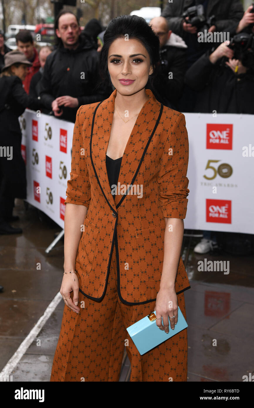 LONDON, UK. March 12, 2019: Bhavna Limbachia arriving for the TRIC Awards 2019 at the Grosvenor House Hotel, London. Picture: Steve Vas/Featureflash Credit: Paul Smith/Alamy Live News - Stock Image