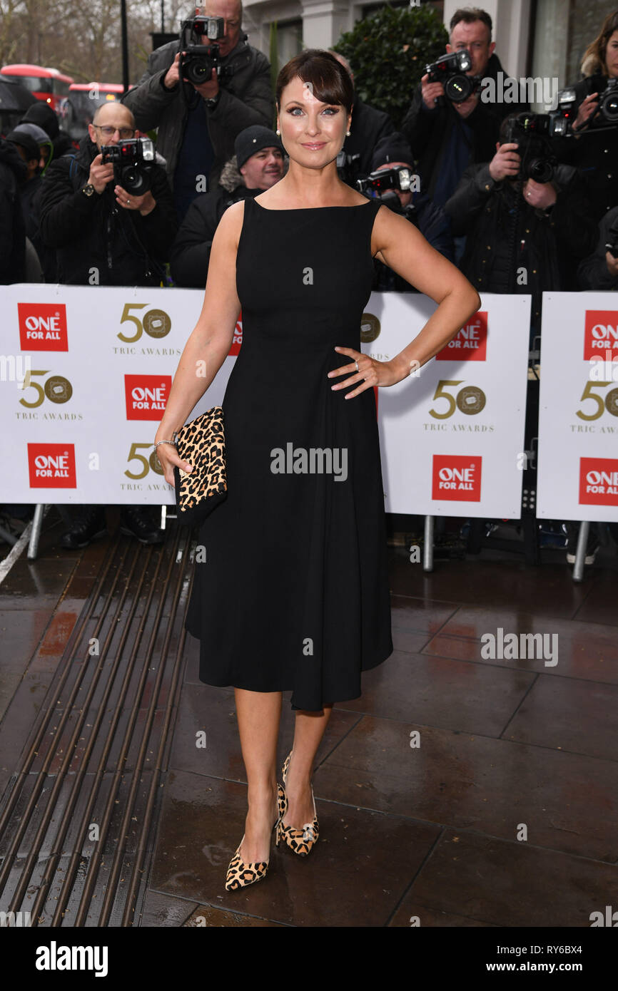 LONDON, UK. March 12, 2019: Emma Barton arriving for the TRIC Awards 2019 at the Grosvenor House Hotel, London. Picture: Steve Vas/Featureflash Credit: Paul Smith/Alamy Live News Stock Photo