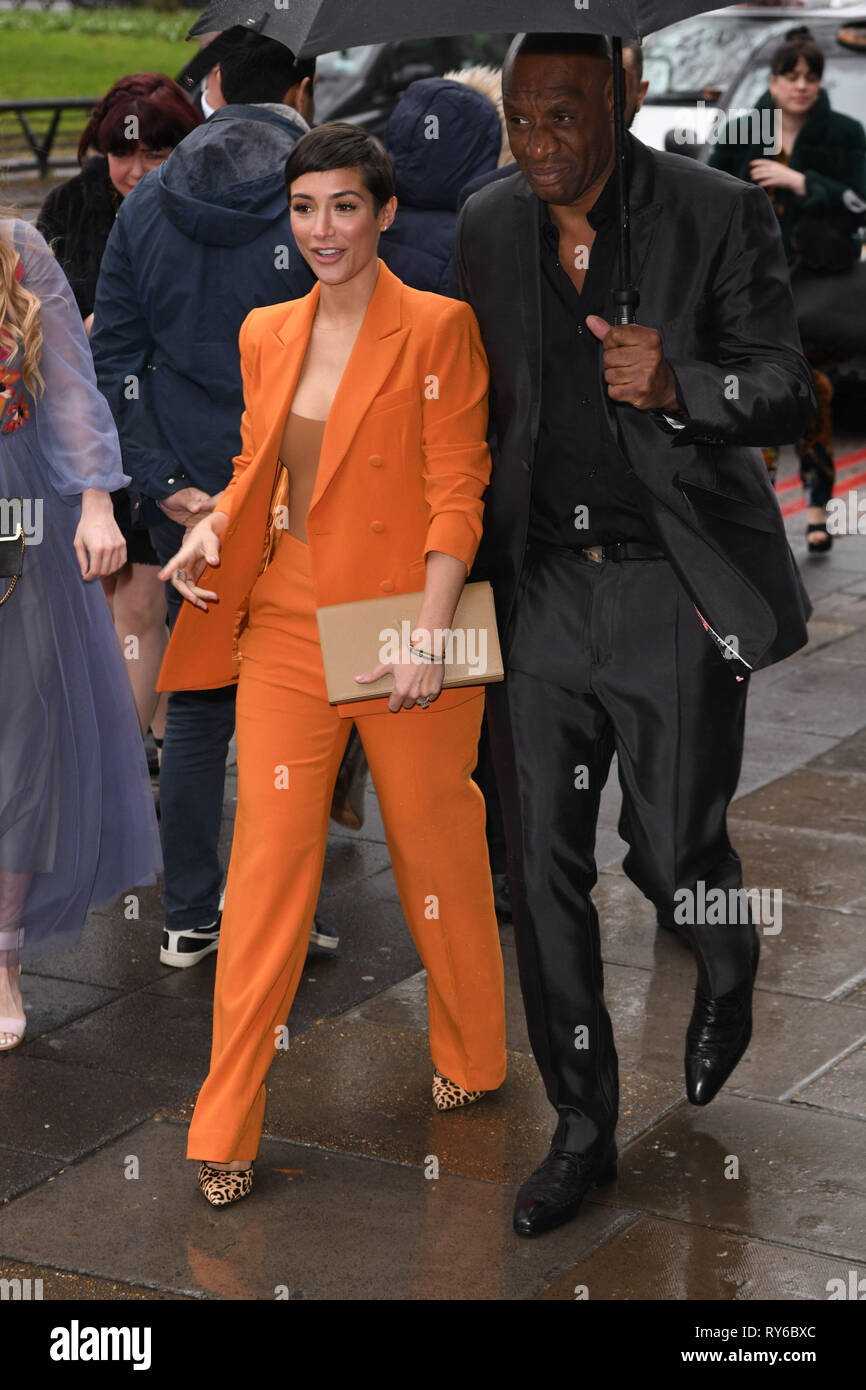 LONDON, UK. March 12, 2019: Frankie Bridge arriving for the TRIC Awards 2019 at the Grosvenor House Hotel, London. Picture: Steve Vas/Featureflash Credit: Paul Smith/Alamy Live News Stock Photo