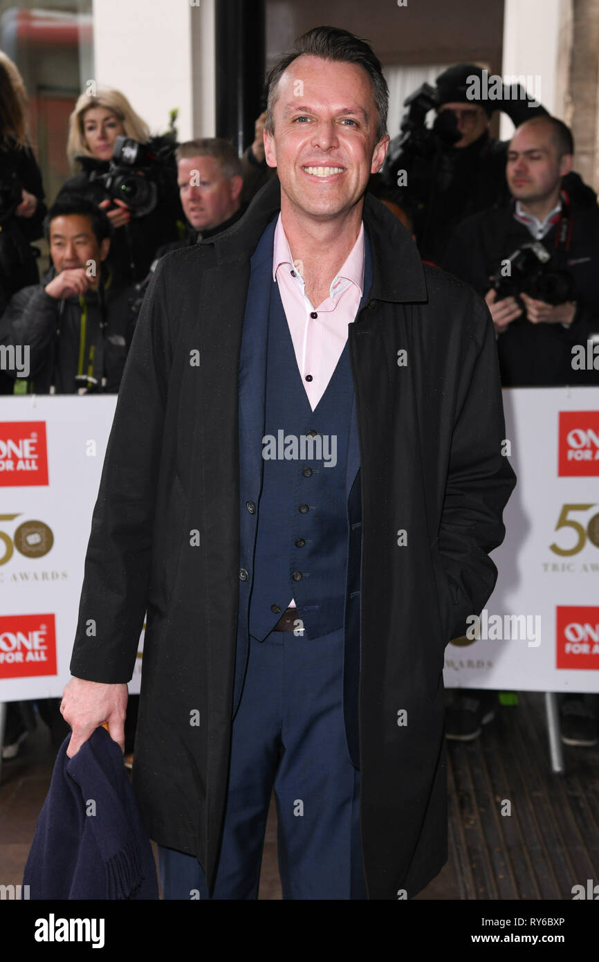 London, UK. 12th Mar, 2019. LONDON, UK. March 12, 2019: Graeme Swann arriving for the TRIC Awards 2019 at the Grosvenor House Hotel, London. Picture: Steve Vas/Featureflash Credit: Paul Smith/Alamy Live News Stock Photo