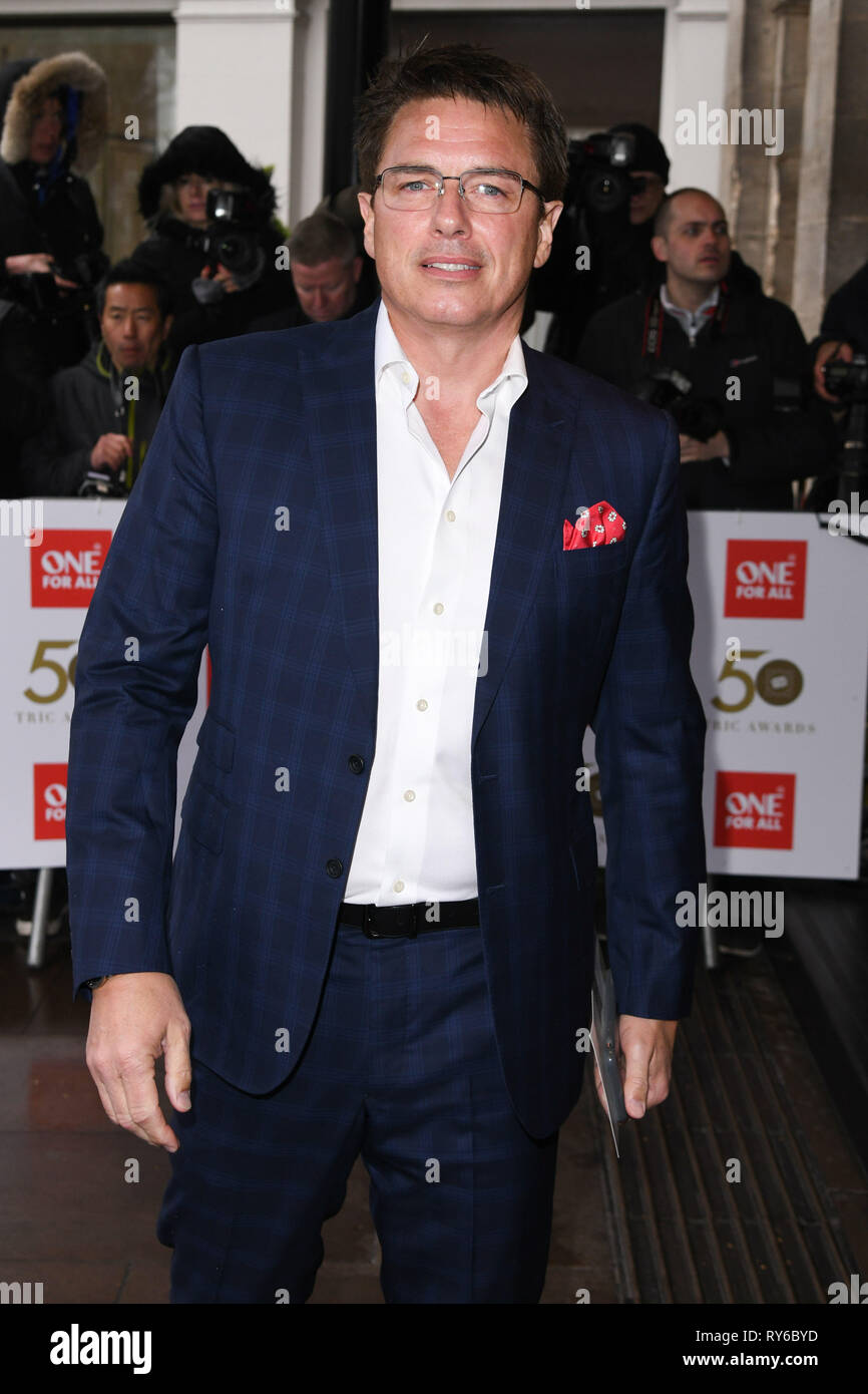 London, UK. 12th Mar, 2019. LONDON, UK. March 12, 2019: John Barrowman arriving for the TRIC Awards 2019 at the Grosvenor House Hotel, London. Picture: Steve Vas/Featureflash Credit: Paul Smith/Alamy Live News Stock Photo