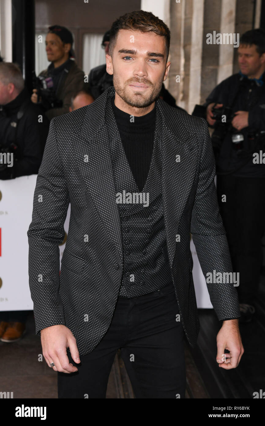 London, UK. 12th Mar, 2019. LONDON, UK. March 12, 2019: Josh Cuthbertson arriving for the TRIC Awards 2019 at the Grosvenor House Hotel, London. Picture: Steve Vas/Featureflash Credit: Paul Smith/Alamy Live News Stock Photo