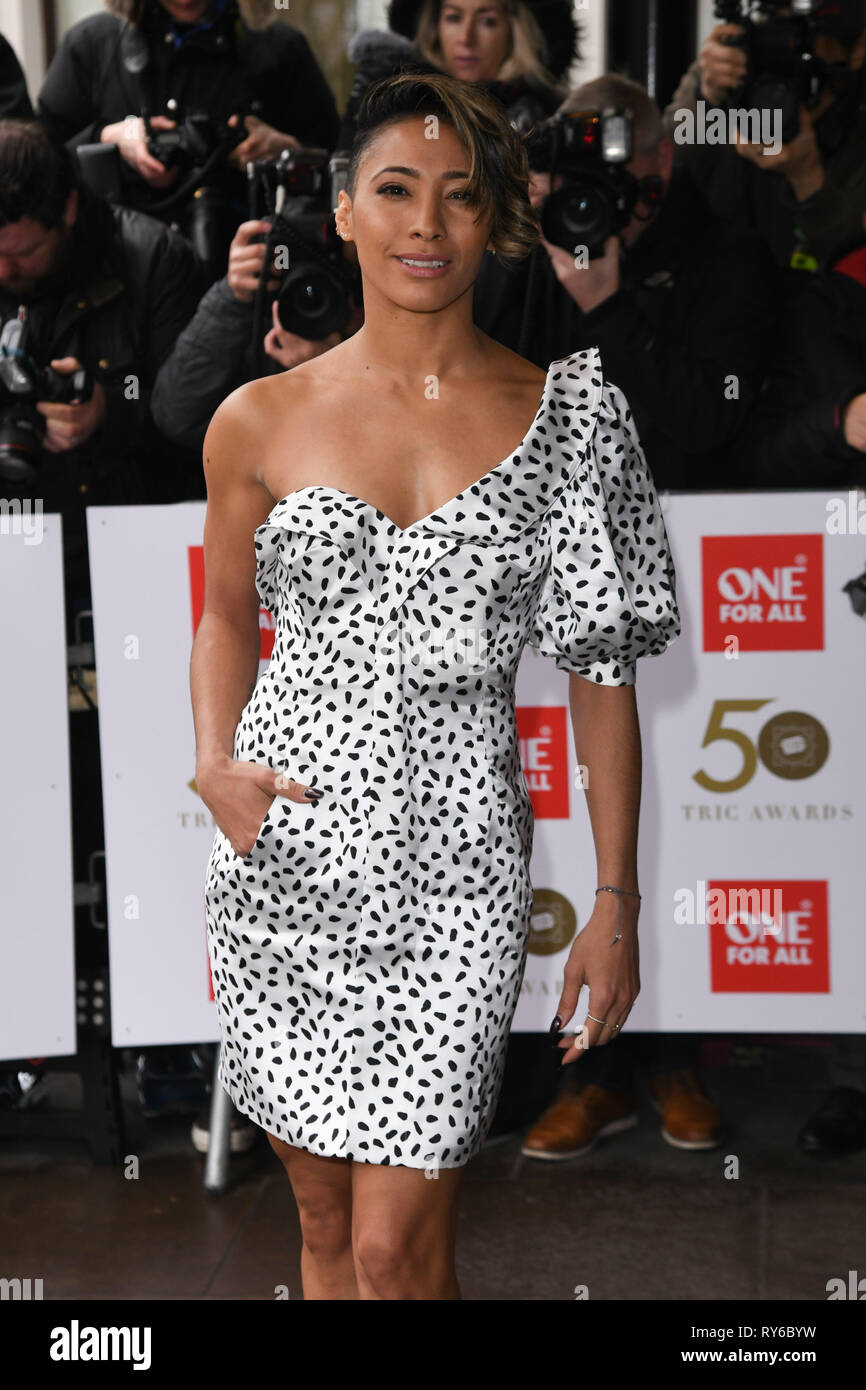 London, UK. 12th Mar, 2019. LONDON, UK. March 12, 2019: Karen Clifton arriving for the TRIC Awards 2019 at the Grosvenor House Hotel, London. Picture: Steve Vas/Featureflash Credit: Paul Smith/Alamy Live News Stock Photo