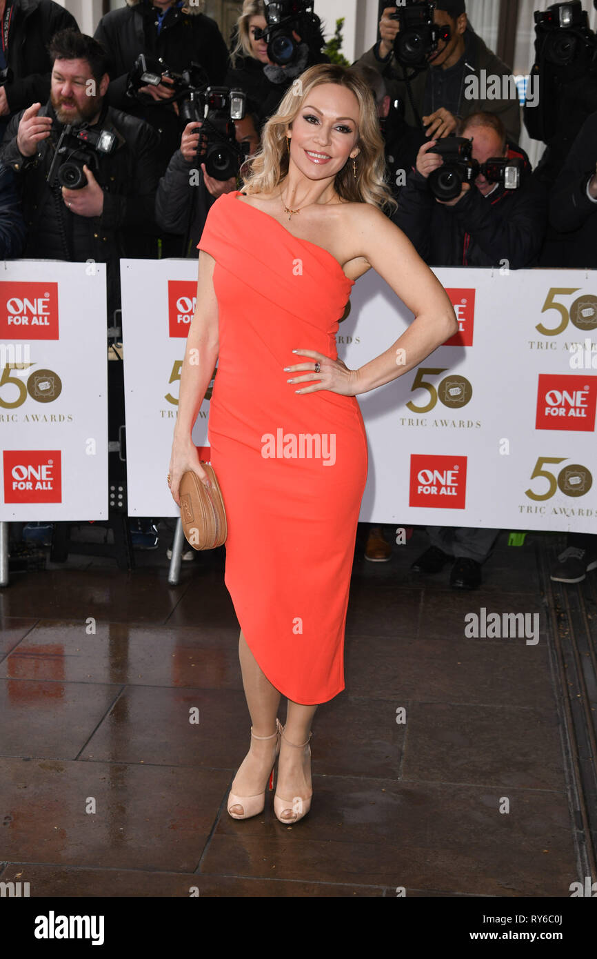 London, UK. 12th Mar, 2019. LONDON, UK. March 12, 2019: Kristina Rihanoff arriving for the TRIC Awards 2019 at the Grosvenor House Hotel, London. Picture: Steve Vas/Featureflash Credit: Paul Smith/Alamy Live News - Stock Image