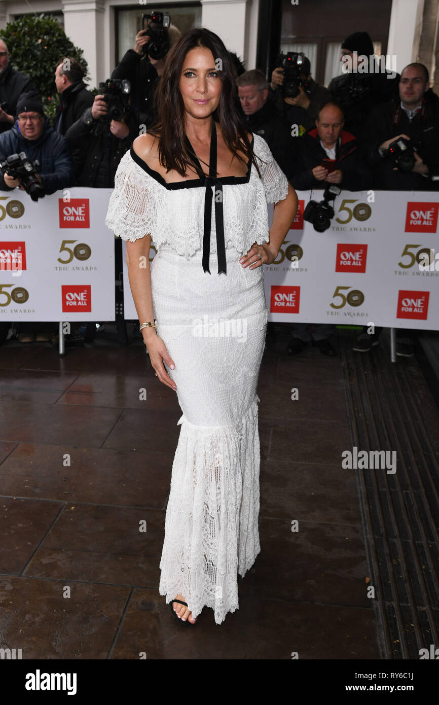 London, UK. 12th Mar, 2019. LONDON, UK. March 12, 2019: Lisa Snowdon arriving for the TRIC Awards 2019 at the Grosvenor House Hotel, London. Picture: Steve Vas/Featureflash Credit: Paul Smith/Alamy Live News Stock Photo