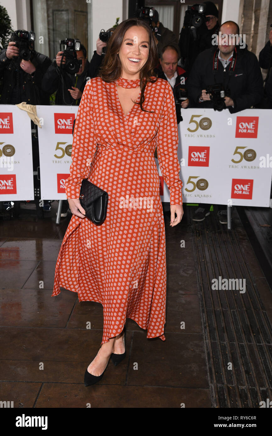 London, UK. 12th Mar, 2019. LONDON, UK. March 12, 2019: Vicky Pattison arriving for the TRIC Awards 2019 at the Grosvenor House Hotel, London. Picture: Steve Vas/Featureflash Credit: Paul Smith/Alamy Live News Stock Photo