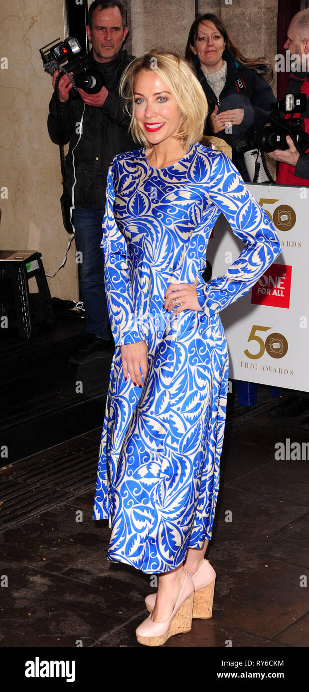 London, UK. 12th Mar, 2019. Laura Hamilton attending The TRIC Awards 50th Anniversary 2019 at The Grosvenor House Hotel London 12th March 2019 Credit: Peter Phillips/Alamy Live News - Stock Image