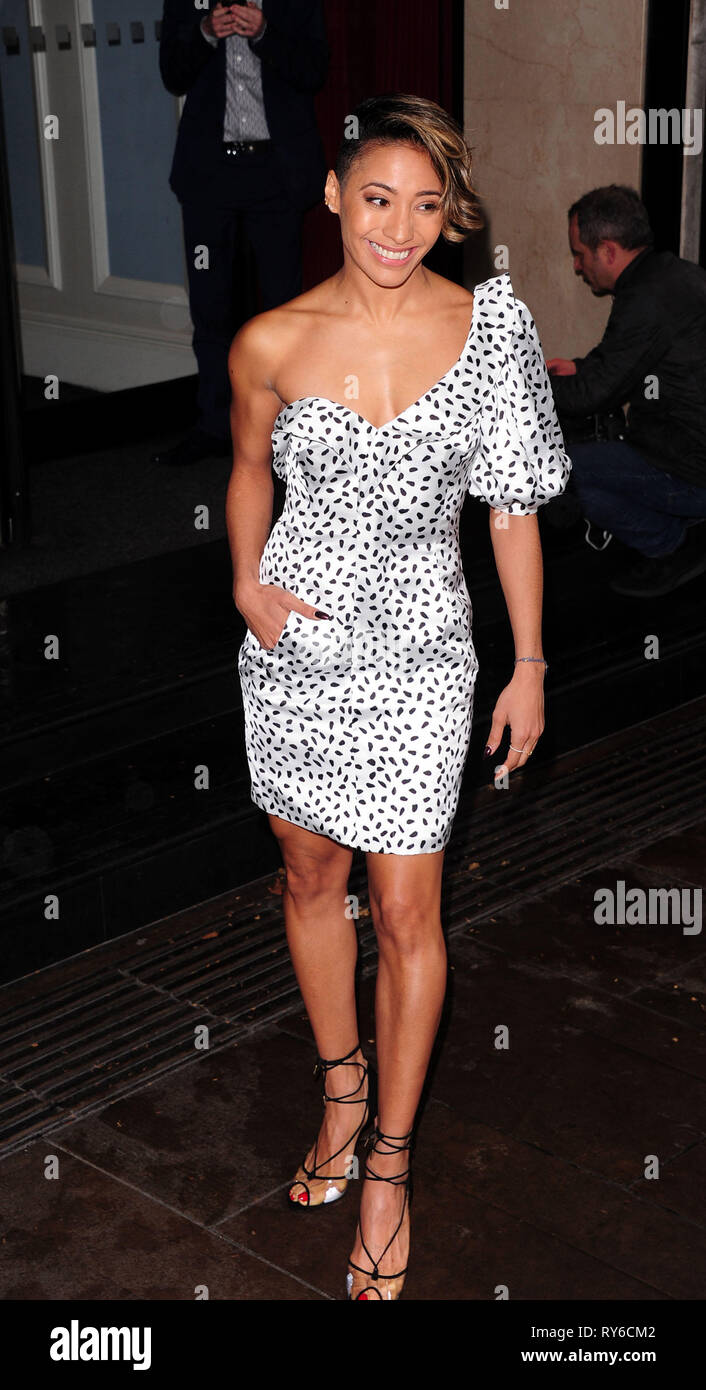 London, UK. 12th Mar, 2019. Karen Clifton attending The TRIC Awards 50th Anniversary 2019 at The Grosvenor House Hotel London 12th March 2019 Credit: Peter Phillips/Alamy Live News - Stock Image