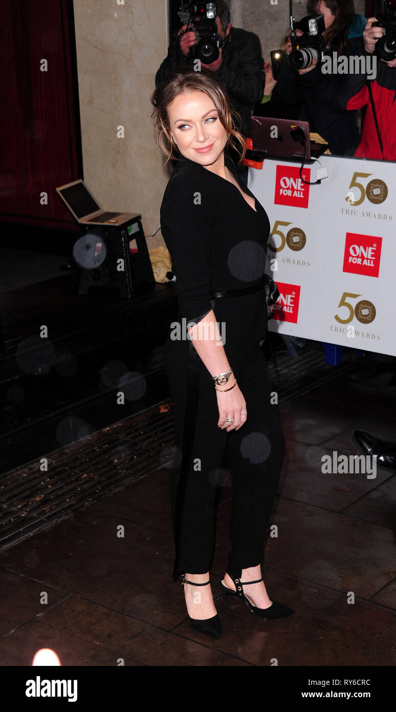 London, UK. 12th Mar, 2019. Rita Simons attending The TRIC Awards 50th Anniversary 2019 at The Grosvenor House Hotel London 12th March 2019 Credit: Peter Phillips/Alamy Live News - Stock Image