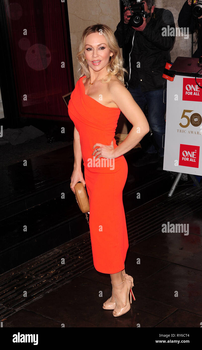 London, UK. 12th Mar, 2019. Ola Jorden attending The TRIC Awards 50th Anniversary 2019 at The Grosvenor House Hotel London 12th March 2019 Credit: Peter Phillips/Alamy Live News - Stock Image