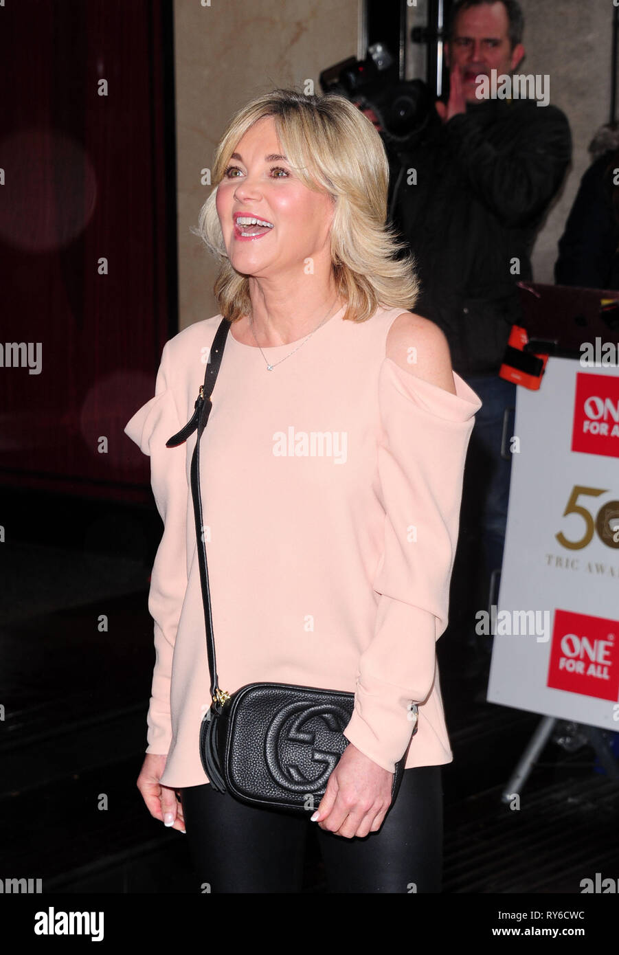London, UK. 12th Mar, 2019. Anthea Turner attending The TRIC Awards 50th Anniversary 2019 at The Grosvenor House Hotel London 12th March 2019 Credit: Peter Phillips/Alamy Live News - Stock Image