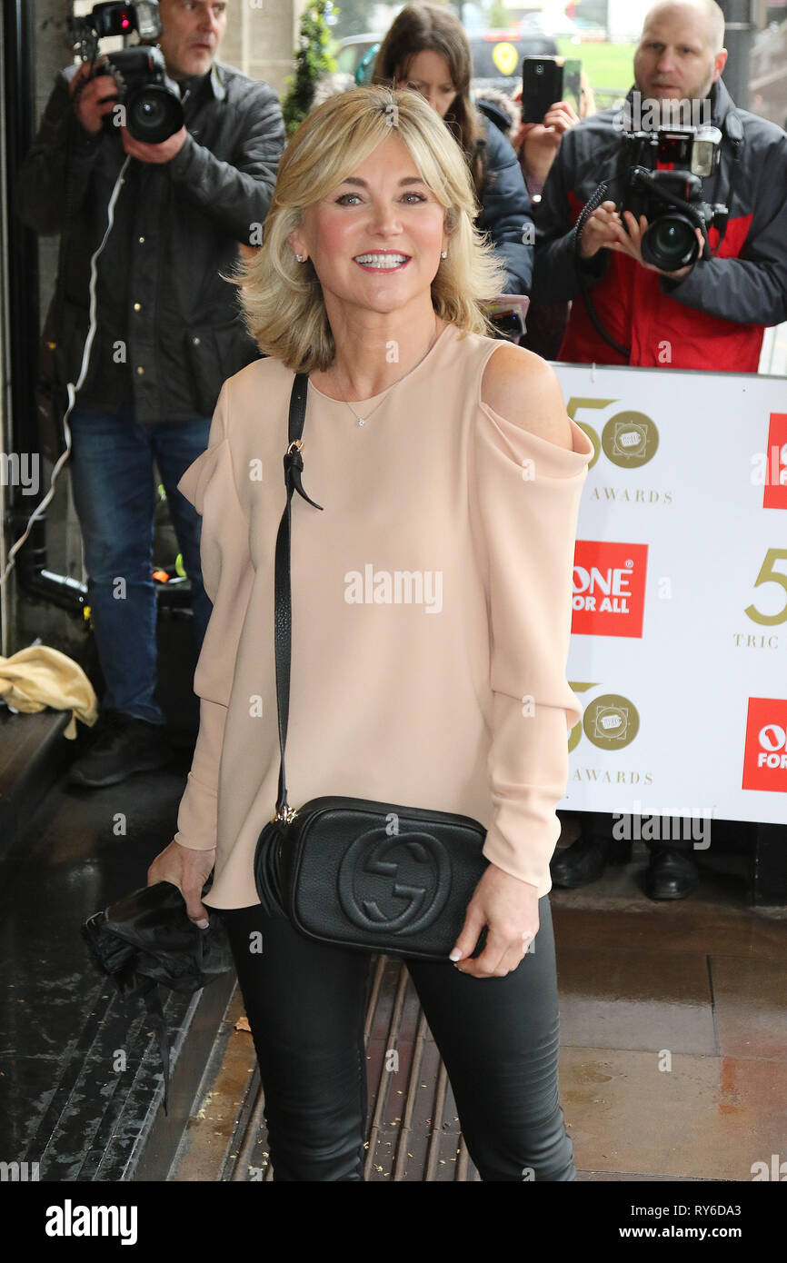 London, UK. 12th Mar, 2019. Anthea Turner, The TRIC Awards 50th Anniversary 2019, The Grosvenor House Hotel, London, UK, 12 March 2019, Photo by Richard Goldschmidt Credit: Rich Gold/Alamy Live News - Stock Image