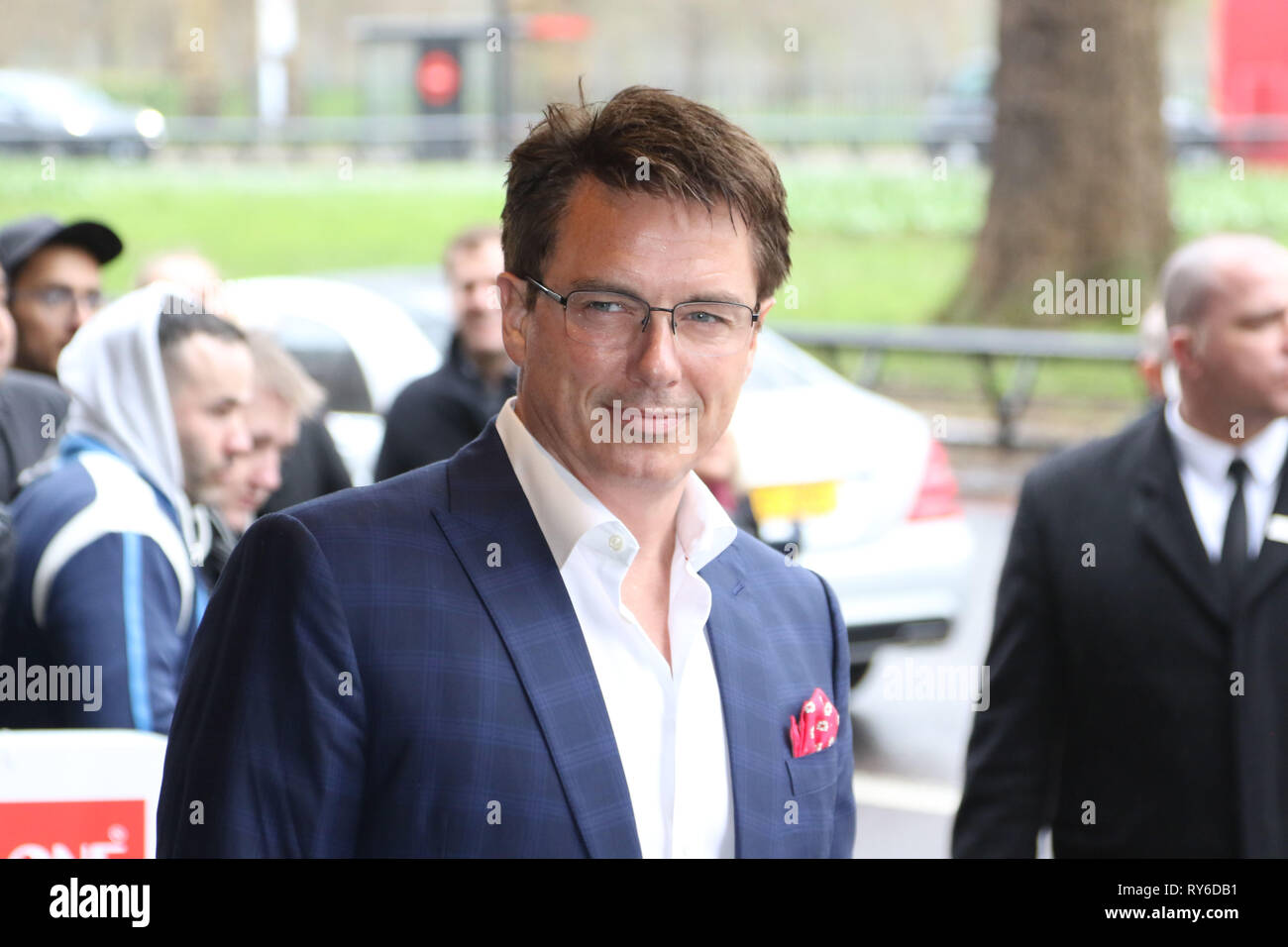London, UK. 12th Mar, 2019. John Barrowman, The TRIC Awards 50th Anniversary 2019, The Grosvenor House Hotel, London, UK, 12 March 2019, Photo by Richard Goldschmidt Credit: Rich Gold/Alamy Live News - Stock Image