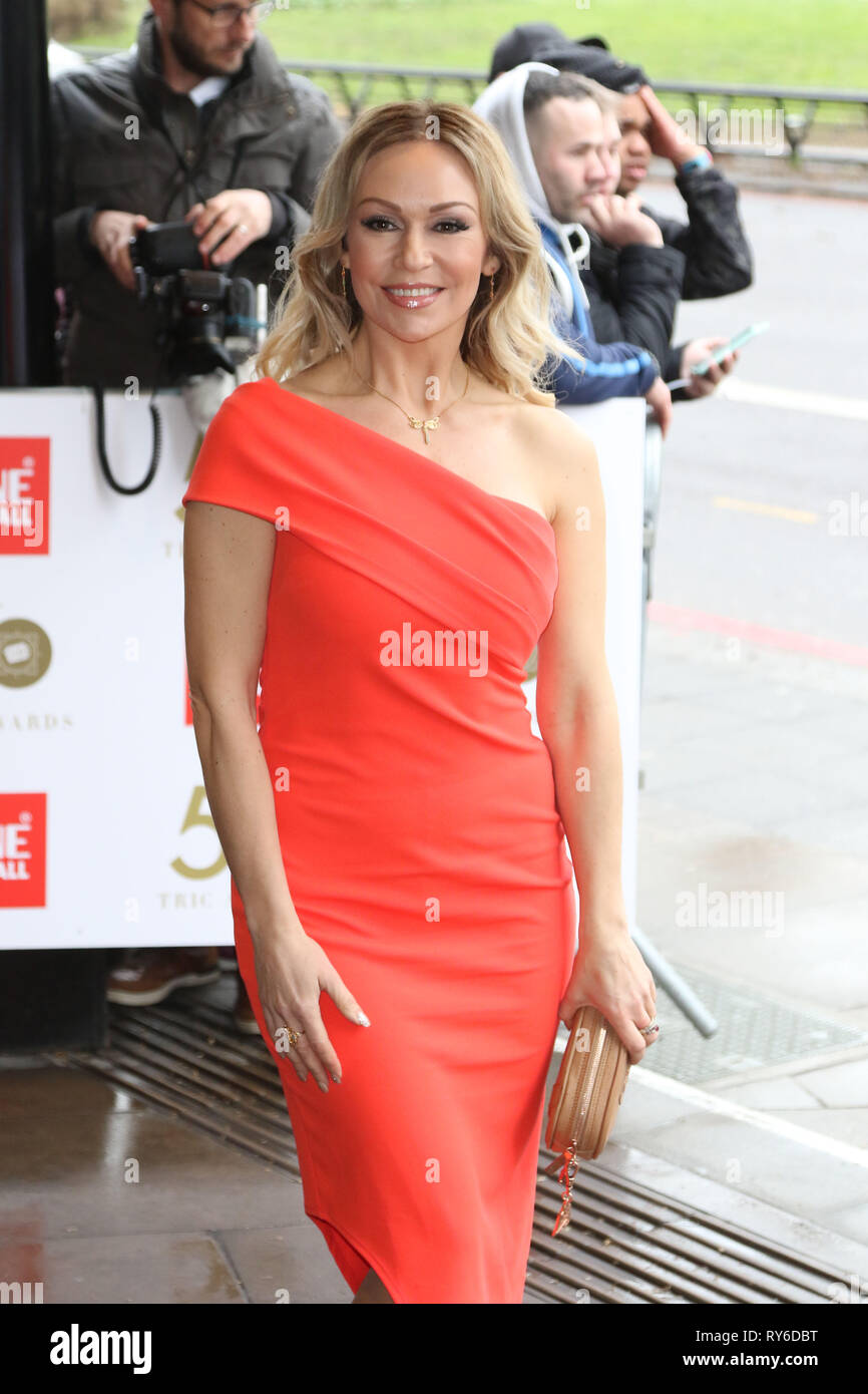 London, UK. 12th Mar, 2019. Kristina Rihanoff, The TRIC Awards 50th Anniversary 2019, The Grosvenor House Hotel, London, UK, 12 March 2019, Photo by Richard Goldschmidt Credit: Rich Gold/Alamy Live News - Stock Image