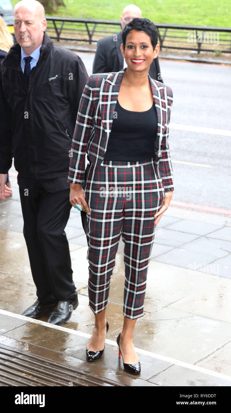 London, UK. 12th Mar, 2019. Naga Munchetty, The TRIC Awards 50th Anniversary 2019, The Grosvenor House Hotel, London, UK, 12 March 2019, Photo by Richard Goldschmidt Credit: Rich Gold/Alamy Live News - Stock Image