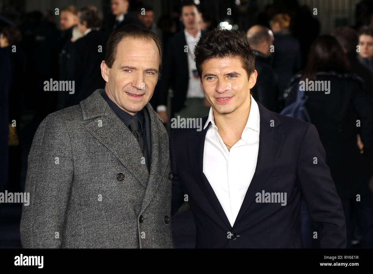 London, UK  12th Mar 2019  Ralph Fiennes and Oleg Ivenko, The White