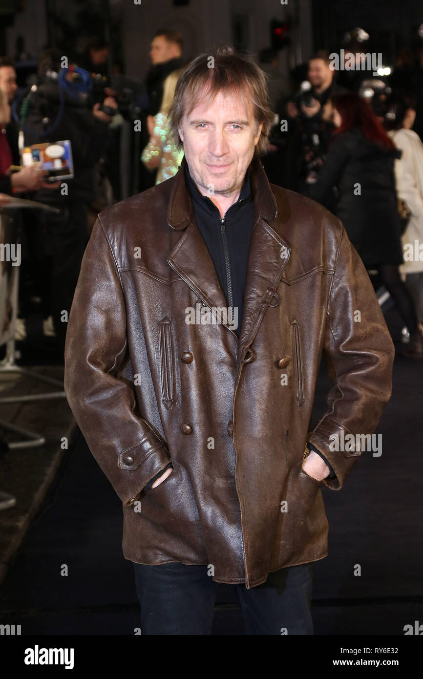 London, UK. 12th Mar 2019. Rhys Ifans, The White Crow - UK Premiere, Curzon Mayfair, London, UK. 12th Mar, 2019. Photo by Richard Goldschmidt Credit: Rich Gold/Alamy Live News - Stock Image