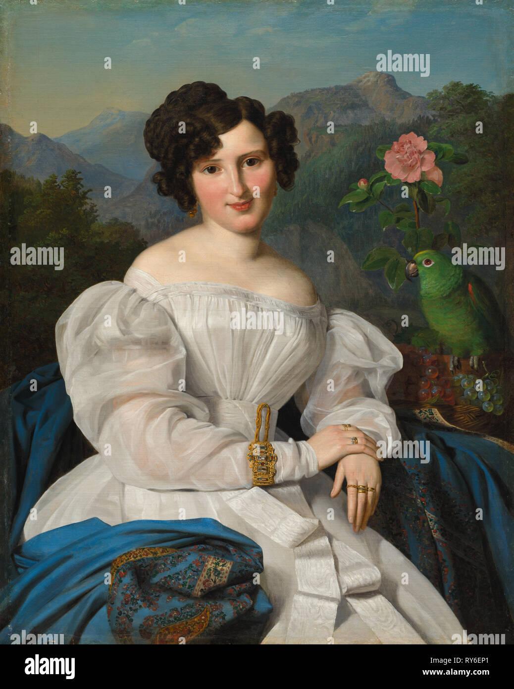 Countess Széchenyi, 1828. Ferdinand Georg Waldmüller (Austrian, 1793-1865). Oil on fabric; framed: 121.5 x 102 x 10.5 cm (47 13/16 x 40 3/16 x 4 1/8 in.); unframed: 97.8 x 78.5 cm (38 1/2 x 30 7/8 in - Stock Image