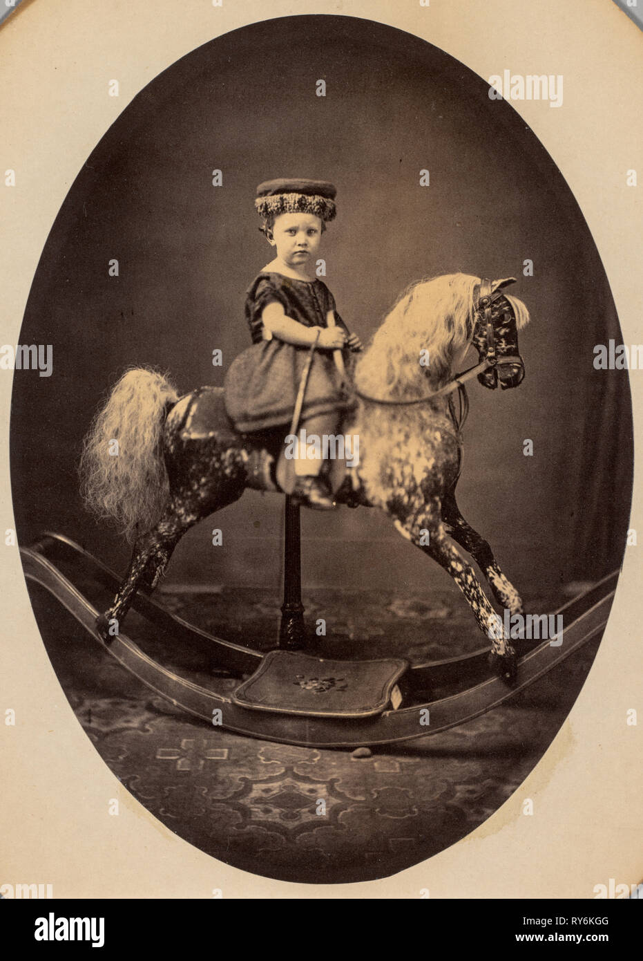 Francis Wayland Sherman at the Age of 2 Years 10 Months, 1862. H.N. Roberts (American, active 1860s). Albumen print from wet collodion negative; image: 18.6 x 13.3 cm (7 5/16 x 5 1/4 in.); mounted: 25.1 x 19.9 cm (9 7/8 x 7 13/16 in.); matted: 50.8 x 40.6 cm (20 x 16 in Stock Photo