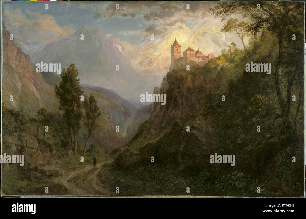 The Monastery of San Pedro (Our Lady of the Snows), 1879. Frederic Edwin Church (American, 1826-1900). Oil on canvas; unframed: 118.8 x 183.2 cm (46 3/4 x 72 1/8 in - Stock Image