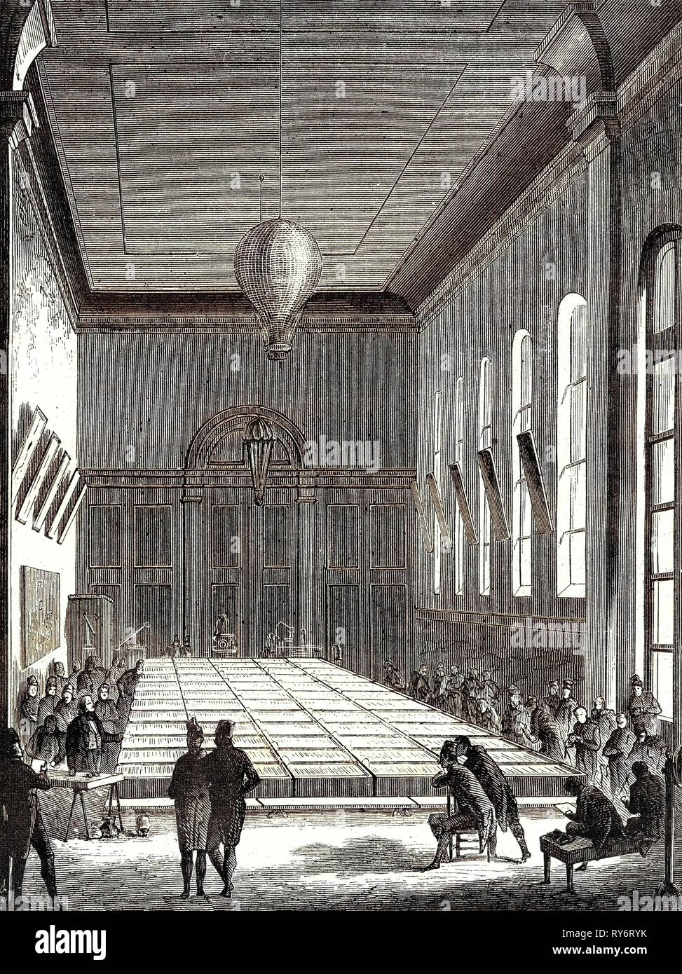 The Large Battery of the École Polytechnique Built in 1813 on the Request of Napoleon I - Stock Image