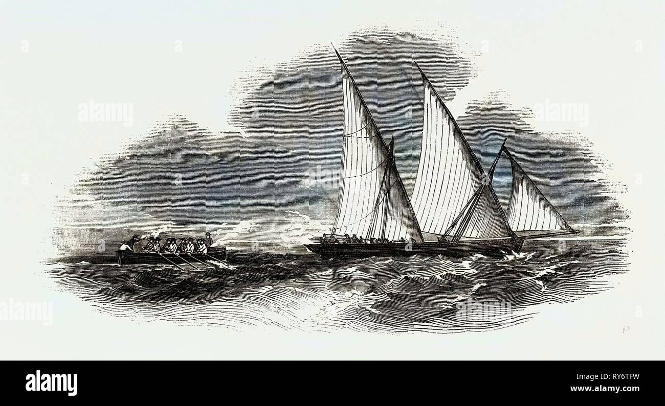 Encounter with a Slave Felucca - Stock Image
