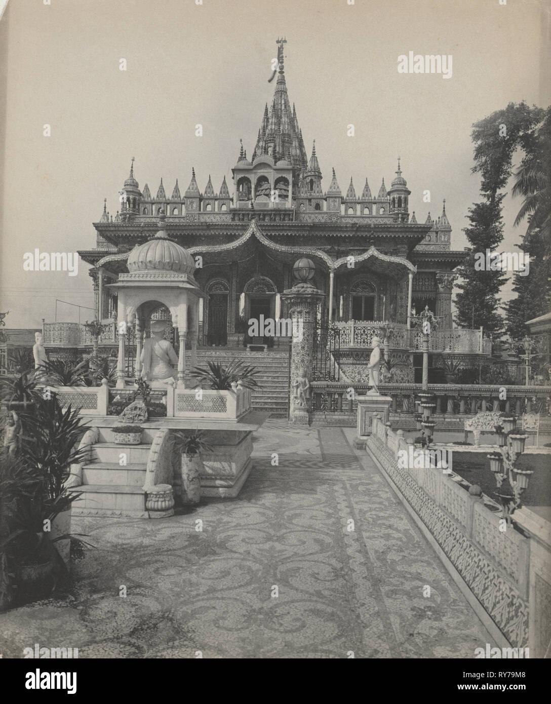 Pareshnath, Jain Temple, Calcutta, c. 1890s. Studio of A. W. A. Plâté Studio (Ceylonese). Platinum print; image: 28.8 x 24.2 cm (11 5/16 x 9 1/2 in.); paper: 28.8 x 24.2 cm (11 5/16 x 9 1/2 in.); matted: 50.8 x 40.6 cm (20 x 16 in Stock Photo