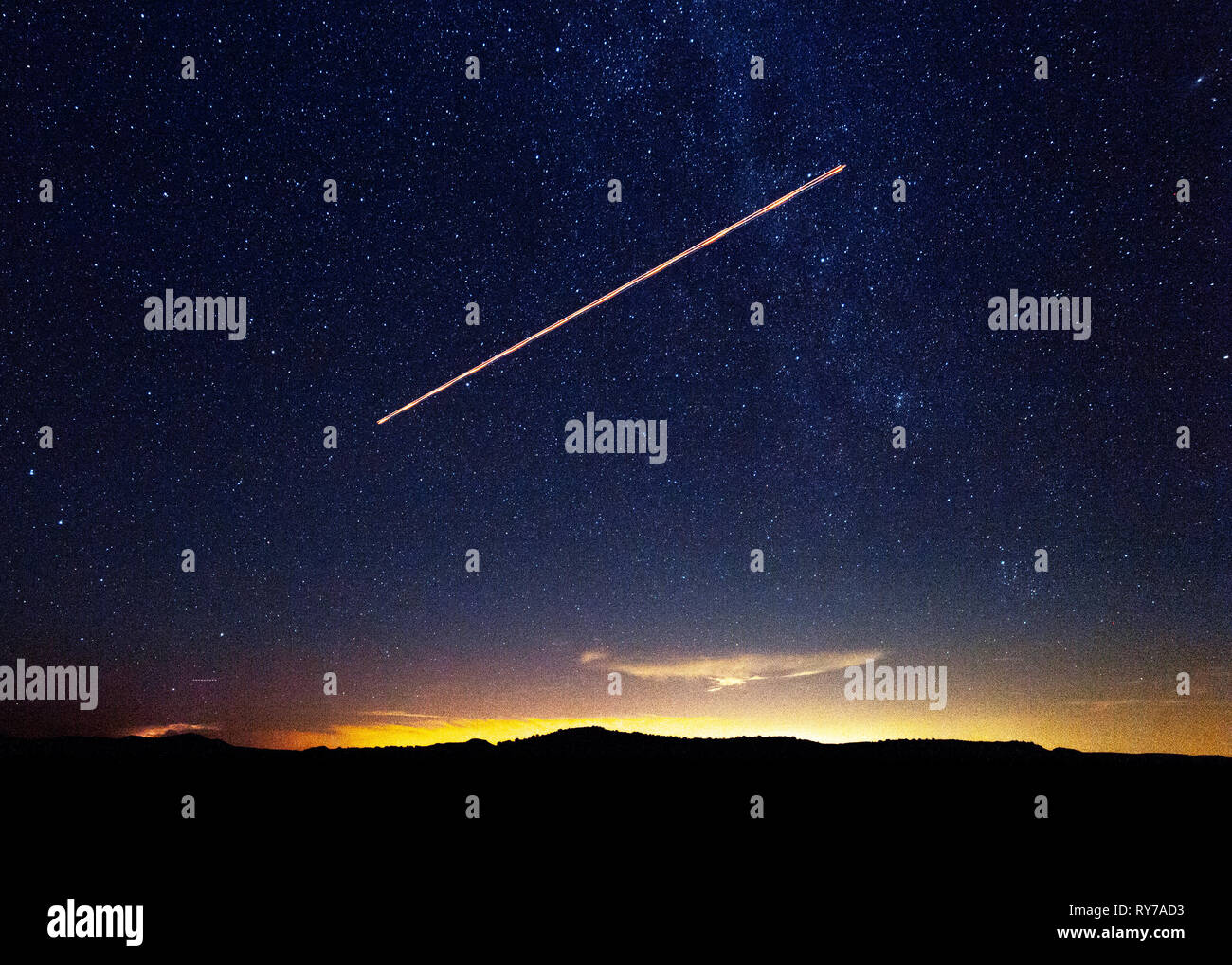 The big and bright stars over Texas. - Stock Image
