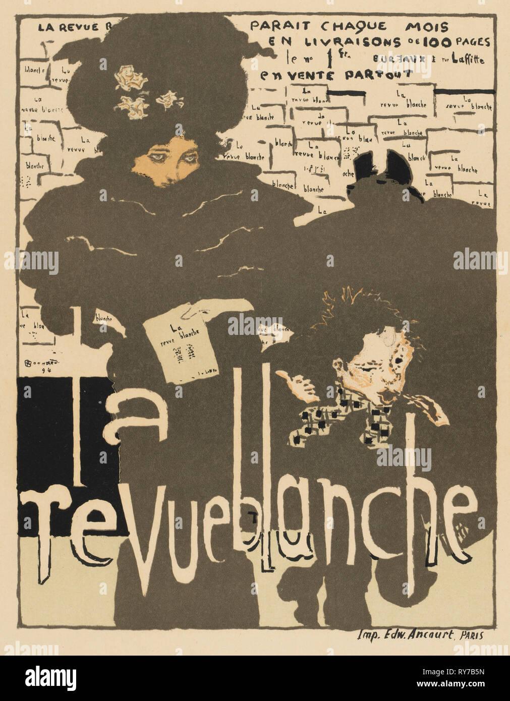 Masters of the Poster: Pl. 38, La Revue Blanche, 1894. Pierre Bonnard (French, 1867-1947), Ancourt, Paris. Color lithograph - Stock Image