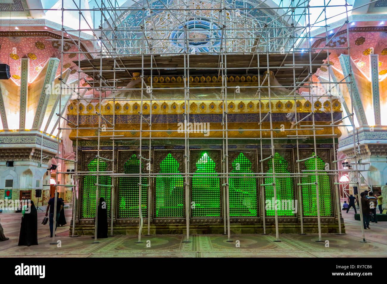 Non Muslim Perspective On The Revolution Of Imam Hussain: Mausoleum Of Ruhollah Khomeini Stock Photos & Mausoleum Of
