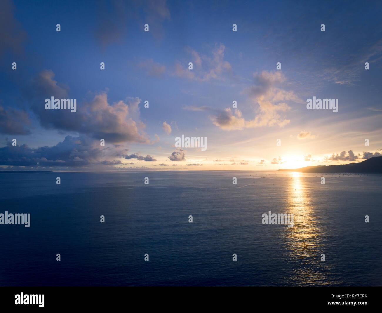A serene scene of sunset - Stock Image