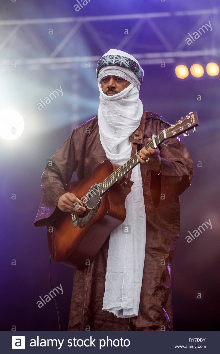 Tinariwen is a band of Tuareg musicians from the Sahara Desert region of Mali. Stock Photo