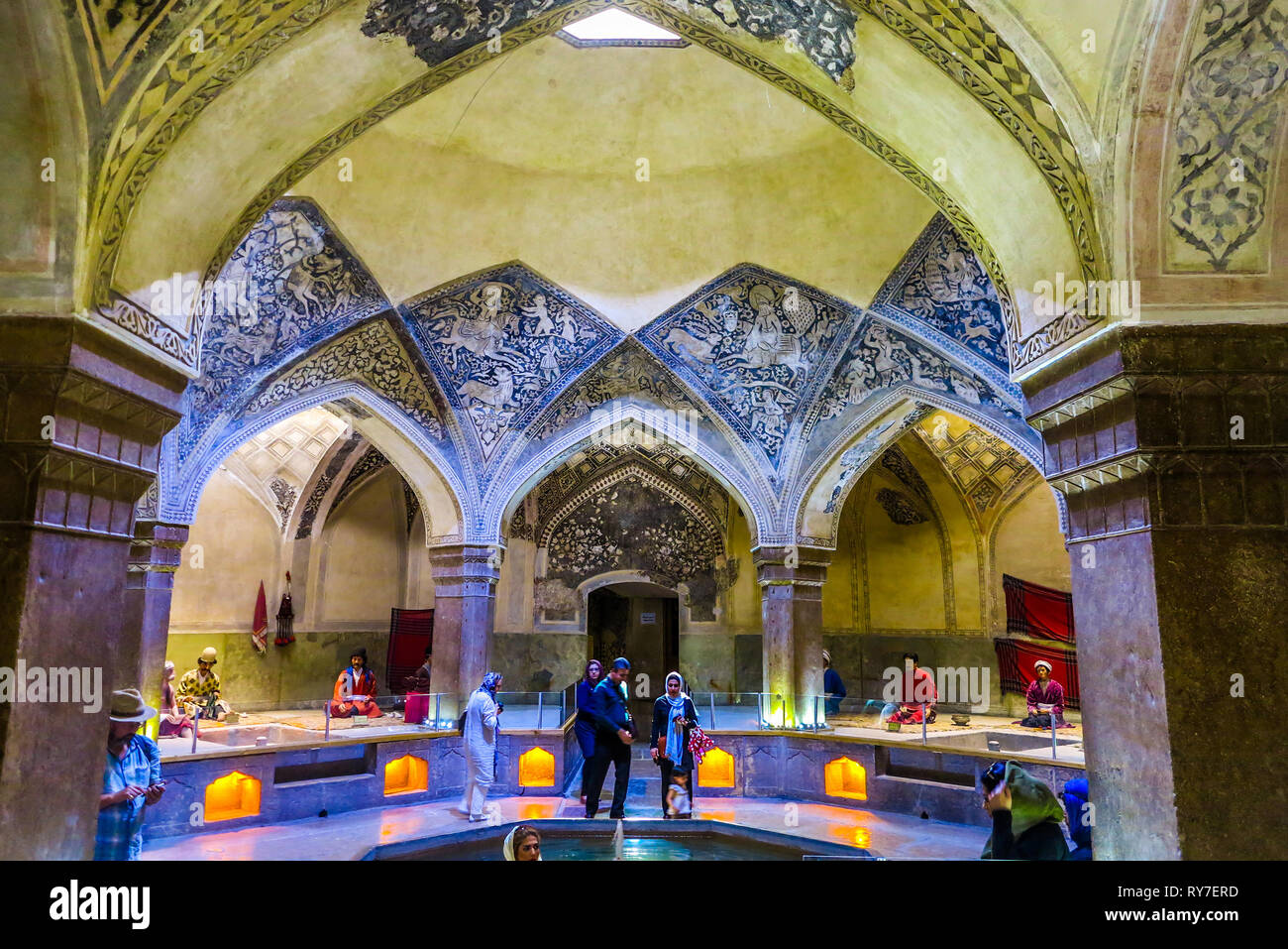 Awe Inspiring Shiraz Vakil Bath House Ceiling With Blue Color Ornament Download Free Architecture Designs Scobabritishbridgeorg