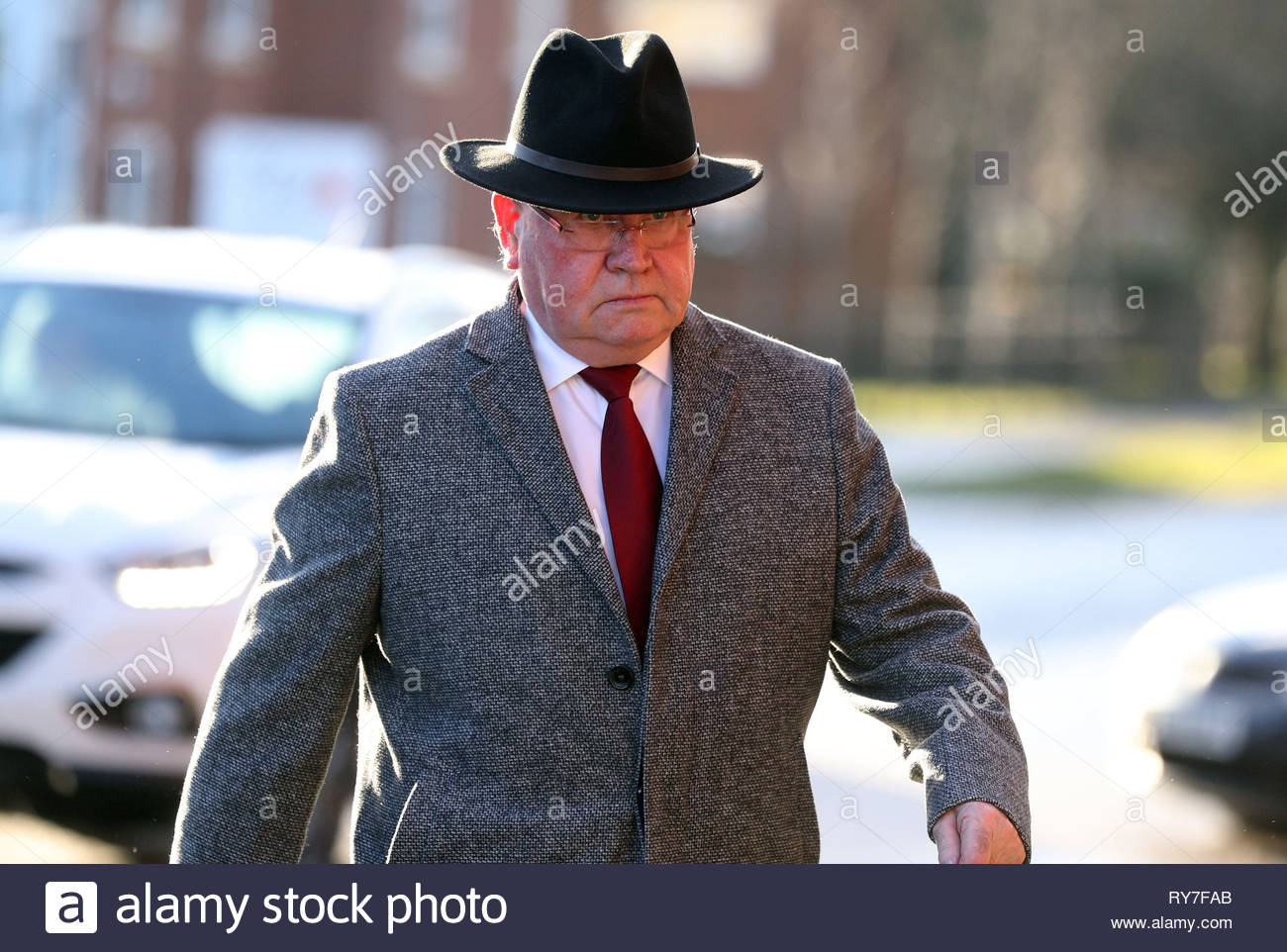 File photo dated 19/12/17 of Alan Bramley, 69, who worked at Medomsley Detention Centre in Consett, County Durham, and who has been convicted at Teesside Crown Court of the historic physical abuse of teenage inmates in the 1970s and 1980s. - Stock Image