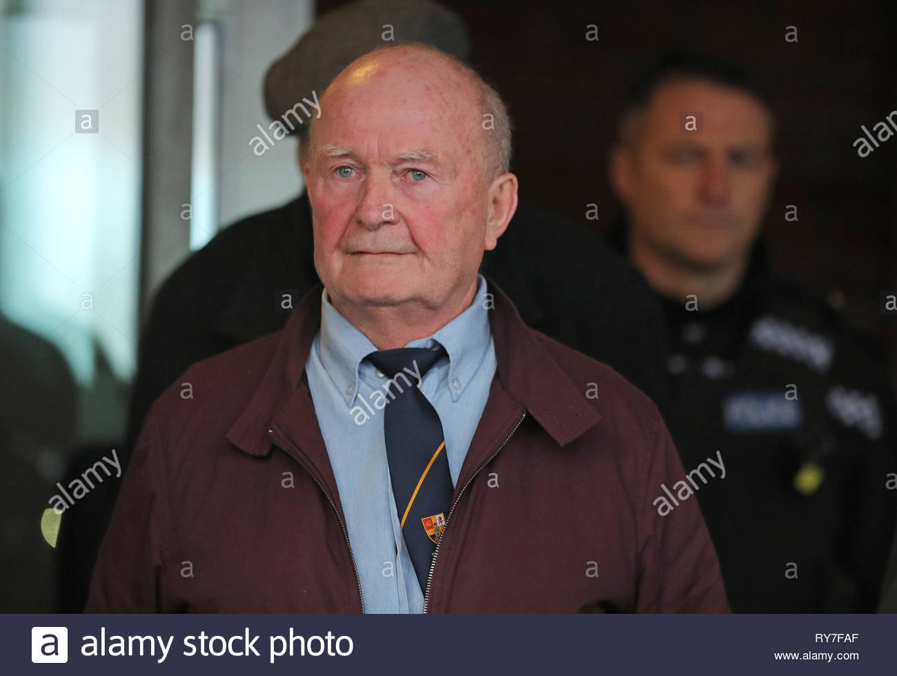 File photo dated 19/12/17 of Christopher Onslow, 71, one of seven former prison officers who worked at Medomsley Detention Centre in Consett, County Durham, who have been convicted at Teesside Crown Court of the historic physical abuse of teenage inmates in the 1970s and 1980s. - Stock Image