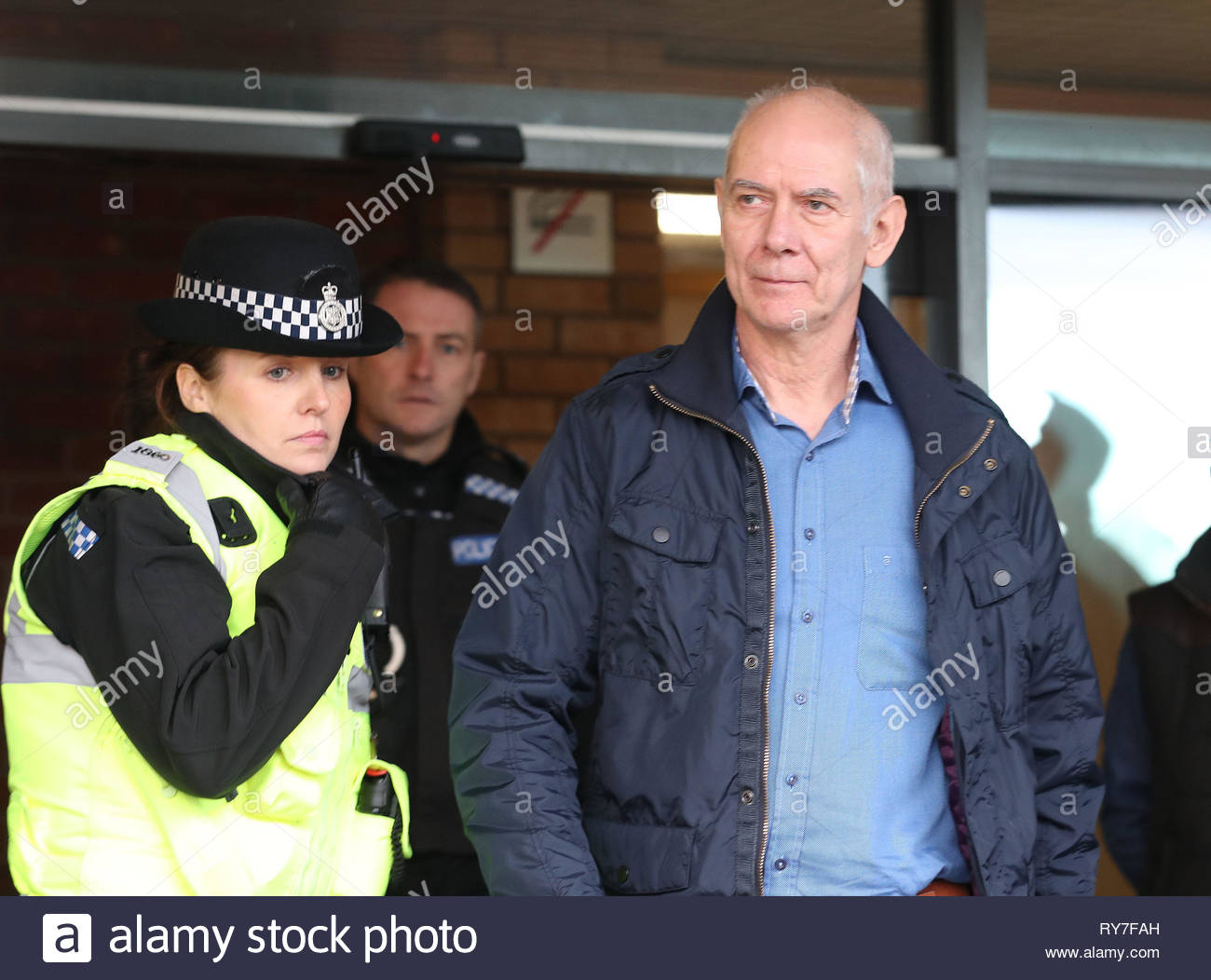 File photo dated 19/12/17 of David McClure, 62, a former prison officer who worked at Medomsley Detention Centre in Consett, County Durham and who has been cleared of all charges at Teesside Crown Court of the historic physical abuse of teenage inmates in the 1970s and 1980s. - Stock Image