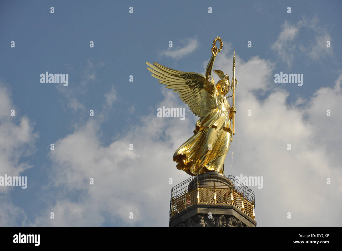 Berlin Victory Statue - Stock Image
