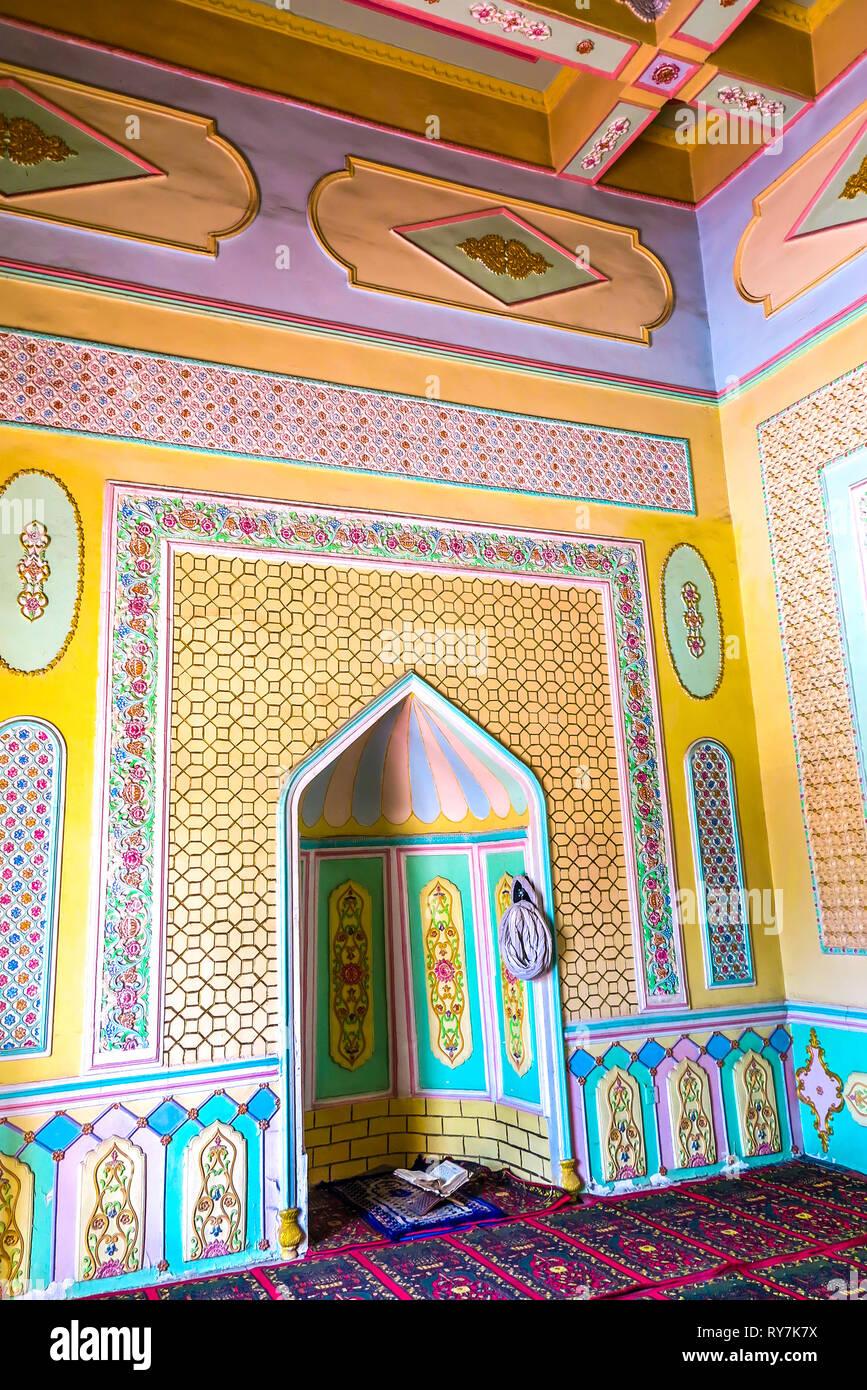 Kuche Royal King Palace Mosque Mihrab Prayers Corner - Stock Image
