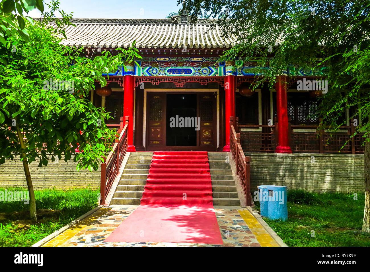 Kuche Royal King Palace Main Entrance to the Museum Pavilion - Stock Image