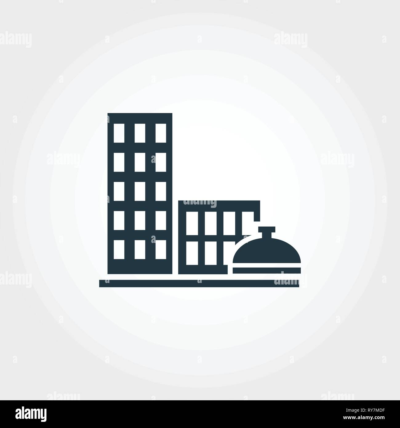 City Services creative icon. Monochrome style design from urbanism icons collection. City Services icon for web design, apps, software, print usage - Stock Vector