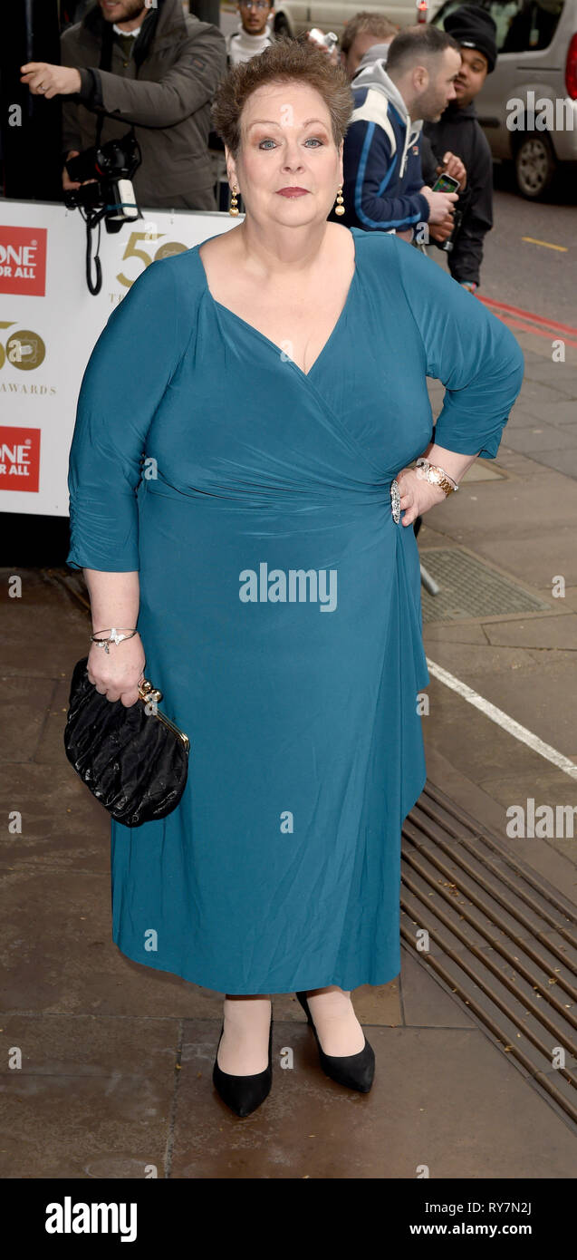 Photo Must Be Credited ©Alpha Press 079965 12/03/2019 Anne Hegerty at The Tric Awards 50th Anniversary 2019 held at The Grosvenor House Hotel in London - Stock Image